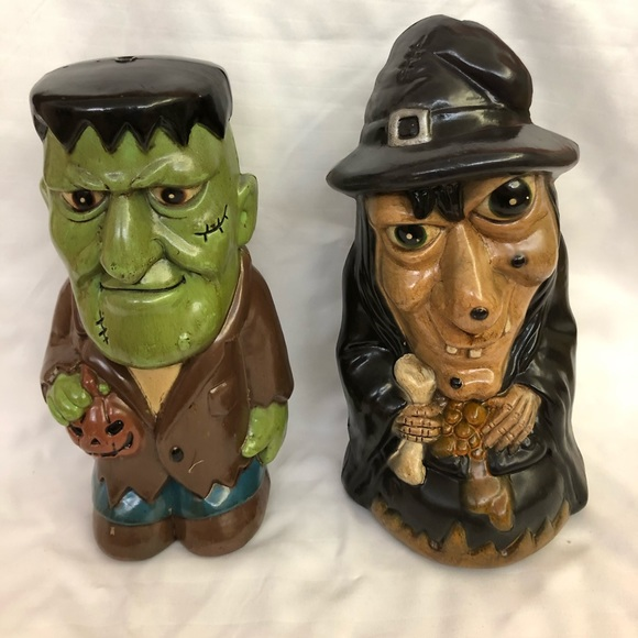 Dynagood Other - Vintage Dynagood Blow Mold Witch & Monster Figures